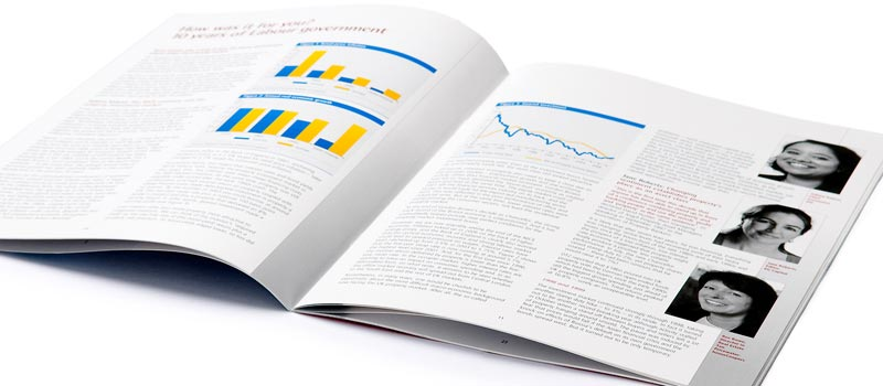 Newsletter design for financial investment company